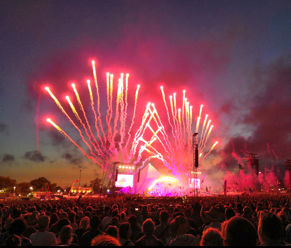 Glastonbury Festival Pyramid Stage Fireworks