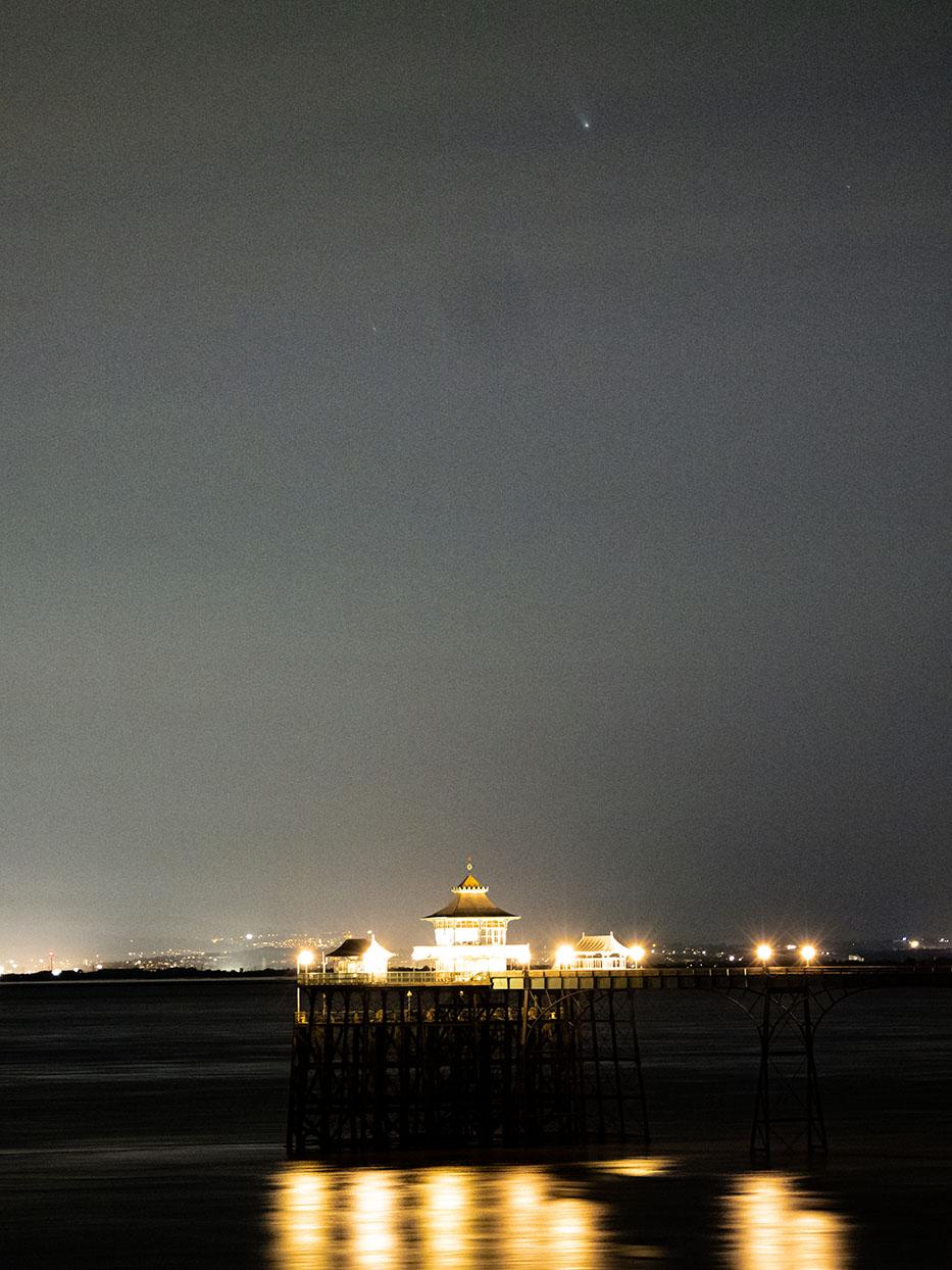 Comet-Neowise-Clevedon-Pier